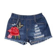Denim Rose Shorts