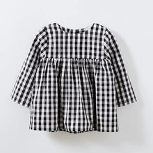 Checked Black/White Dress