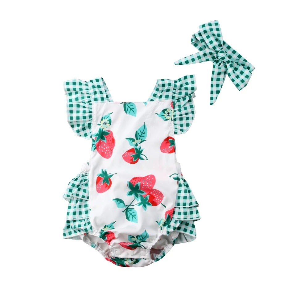 Strawberry Patch Romper