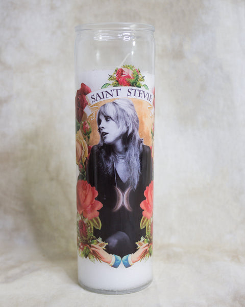 "Pop Culture Altar Candle: ""Saint Stevie"""