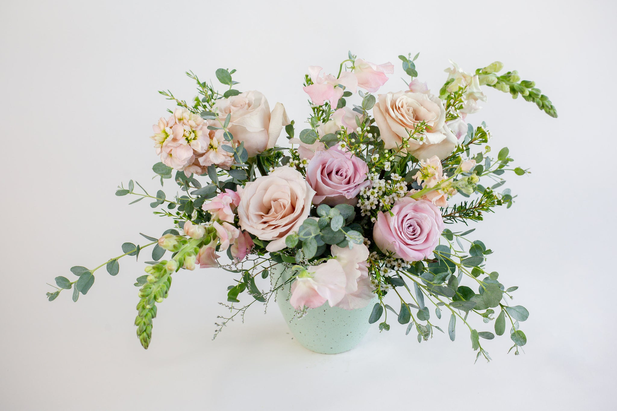Vintage Charm - Flower Arrangement in Vase