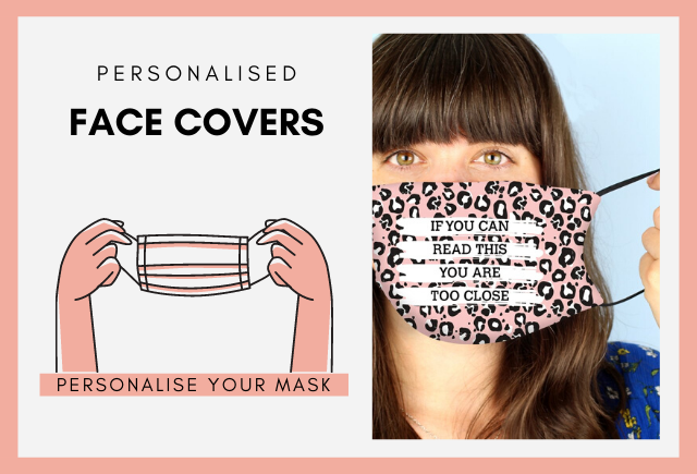 personalised face covers