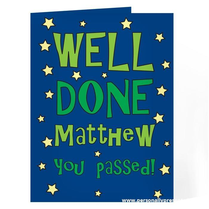 Personalised Well Done Green Star Card - Personalised Gift From Personally Presented