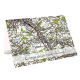 Personalised 1945 - 1948 New Popular Map Card - Personalised Gift From Personally Presented
