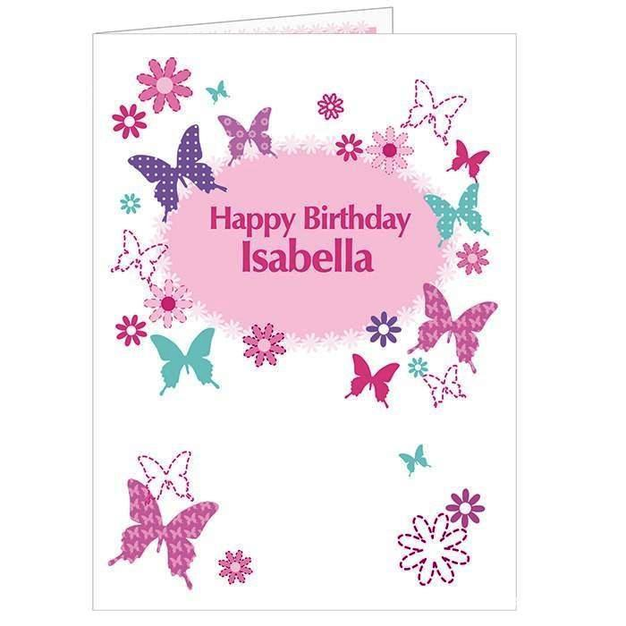 Personalised Butterfly Card - Personalised Gift From Personally Presented