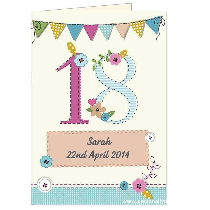 Personalised Birthday Craft Card - Personalised Gift From Personally Presented