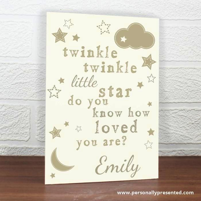 Personalised Twinkle Twinkle Card - Personalised Gift From Personally Presented