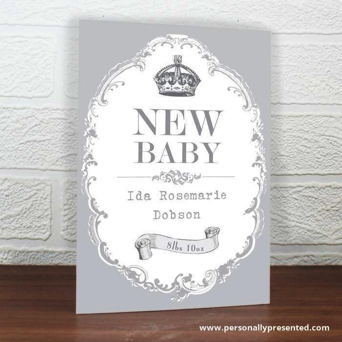 Personalised Royal Crown Card - Personalised Gift From Personally Presented