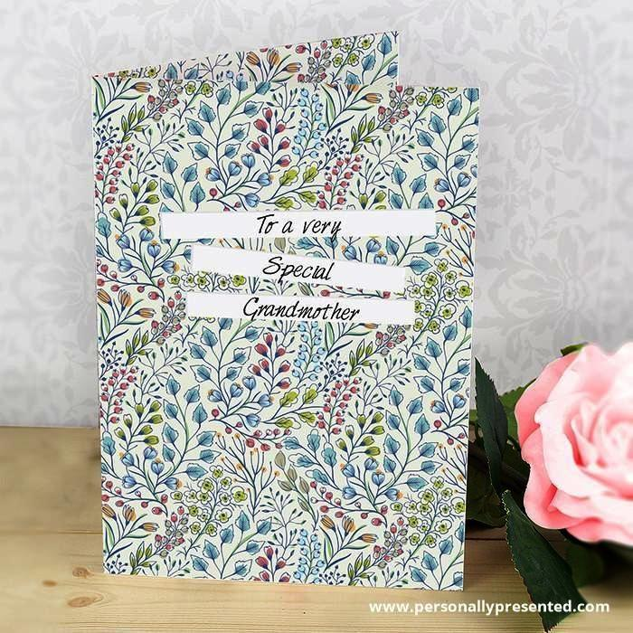 Personalised Botanical Card - Personalised Gift From Personally Presented