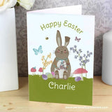 Personalised Easter Meadow Bunny Card - Personalised Gift From Personally Presented