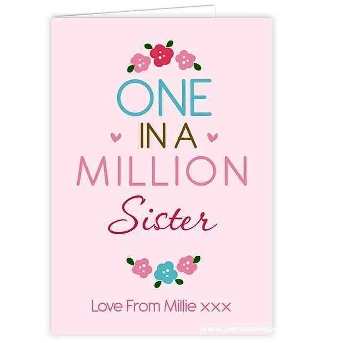 Personalised One in a Million Card - Personalised Gift From Personally Presented