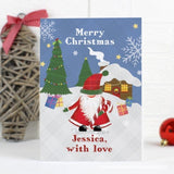 Personalised Tartan Santa Card - Personalised Gift From Personally Presented