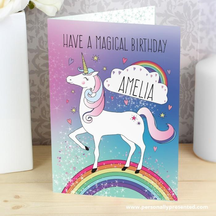 Personalised Unicorn Card - Personalised Gift From Personally Presented