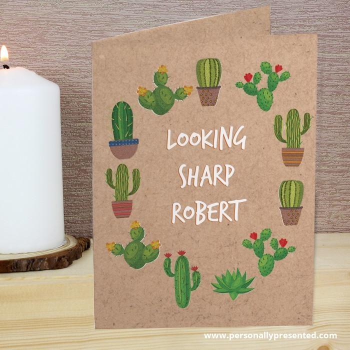 Personalised Cactus Card - Personalised Gift From Personally Presented