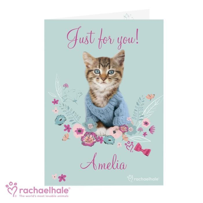 Personalised Rachael Hale Cute Kitten Card.