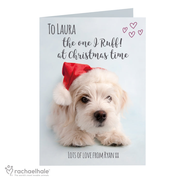 Personalised Rachael Hale Terrier Christmas Card - Personalised Gift From Personally Presented