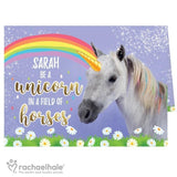 Personalised Rachael Hale Unicorn Card - Personalised Gift From Personally Presented