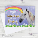 Personalised Rachael Hale Unicorn Card