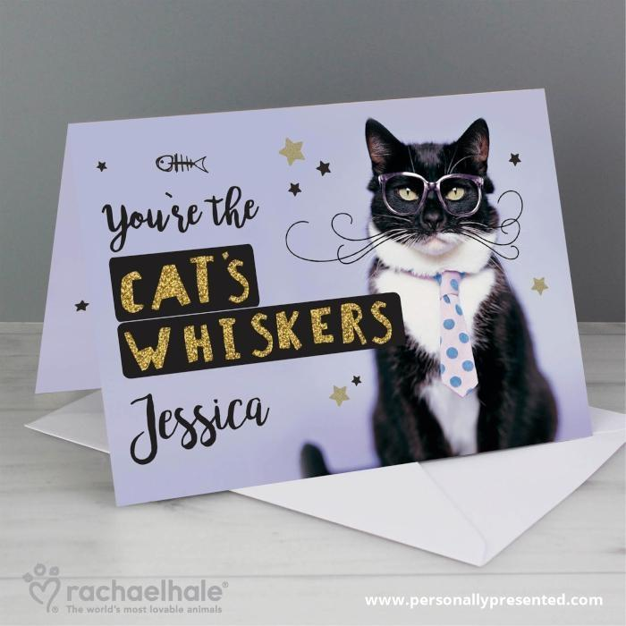 Personalised Rachael Hale 'You're the Cat's Whiskers' Card - Personalised Gift From Personally Presented