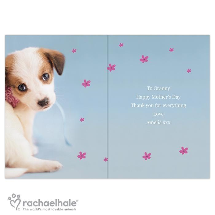 Personalised Rachael Hale 'Just for You' Puppy Card
