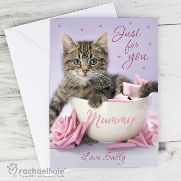 Personalised Rachael Hale 'Just for You' Kitten Card - Personalised Gift From Personally Presented