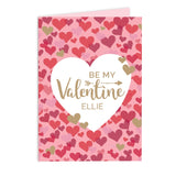Personalised Valentine's Day Confetti Hearts Card - Personalised Gift From Personally Presented