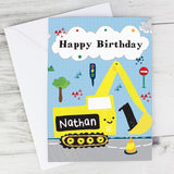 Personalised Digger Birthday Card - Personalised Gift From Personally Presented