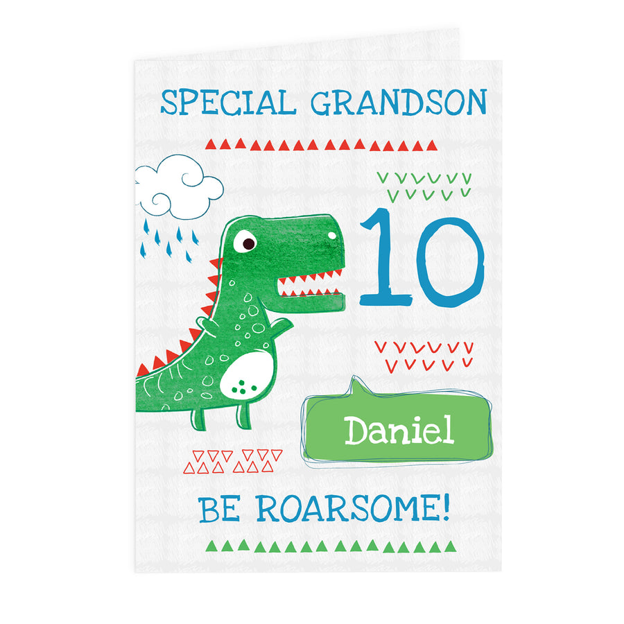 Personalised 'Be Roarsome' Dinosaur Card - Personalised Gift From Personally Presented