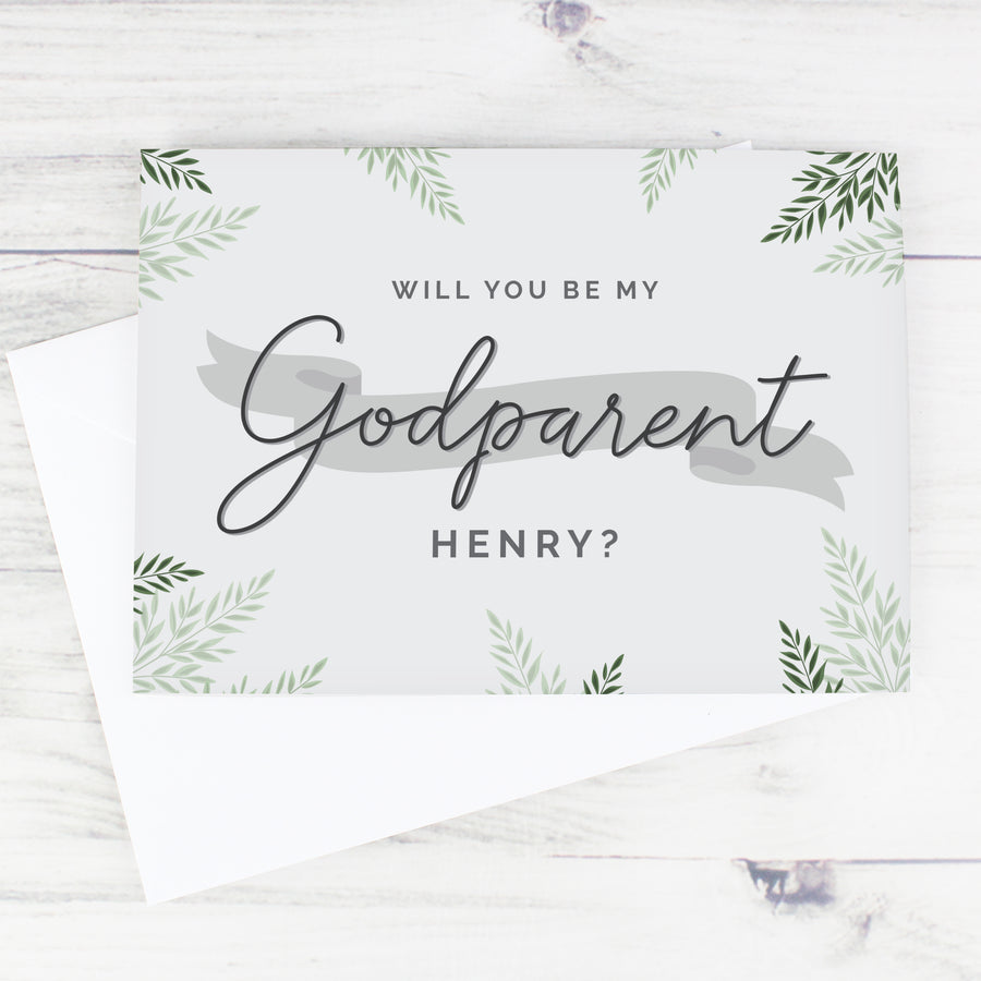 Personalised Godparent Card - Personalised Gift From Personally Presented