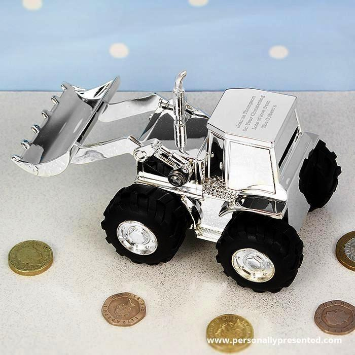 Personalised Digger Money Box - Personalised Gift From Personally Presented