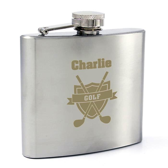 Personalised Golf Hip Flask - Personalised Gift From Personally Presented