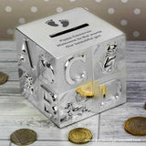 Personalised Footprints ABC Money Box - Personalised Gift From Personally Presented