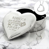 Personalised Key to My Heart Trinket Box & Necklace Set - Personalised Gift From Personally Presented