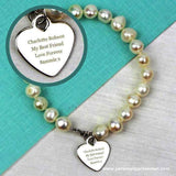 Personalised White Freshwater Pearl Message Bracelet - Personalised Gift From Personally Presented