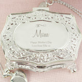 Personalised Swirls & Hearts Small Antique Trinket Box - Personalised Gift From Personally Presented