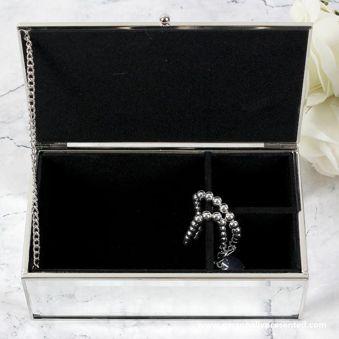 Personalised Classic Mirrored Jewellery Box - Personalised Gift From Personally Presented
