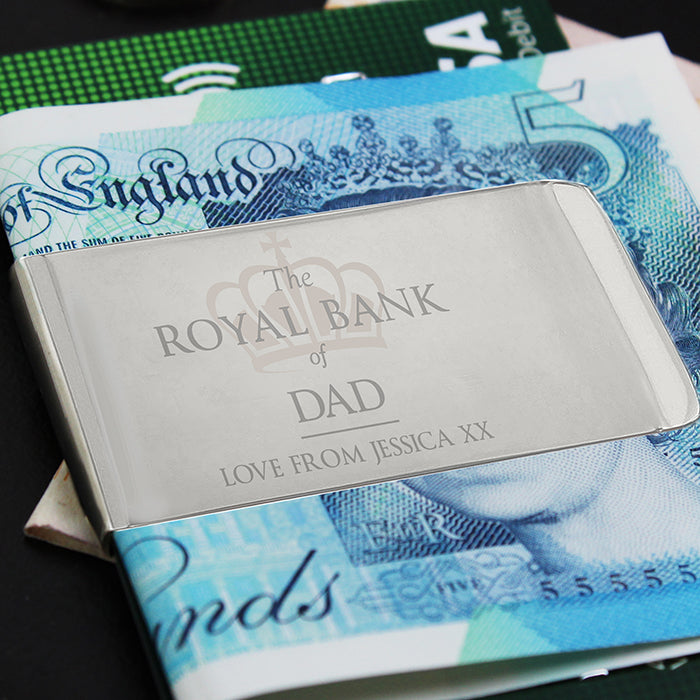 Personalised 'Royal Bank of...' Money Clip - Personalised Gift From Personally Presented