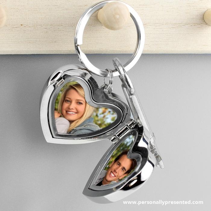 Personalised Arrow Heart Photoframe Keyring - Personalised Gift From Personally Presented