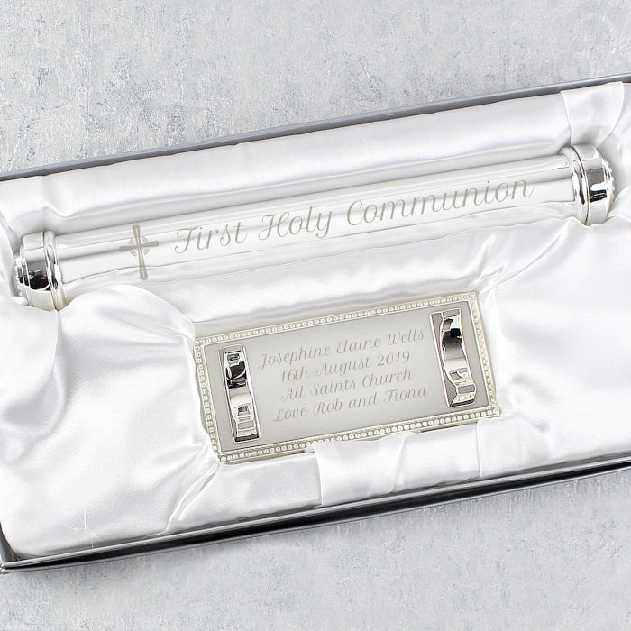Personalised Cross Certificate Holder - Personalised Gift From Personally Presented