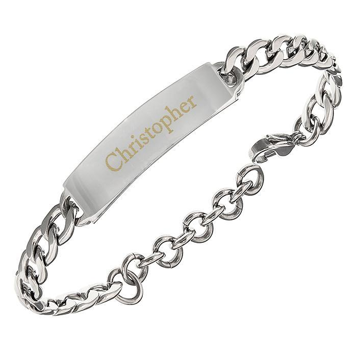 Personalised Stainless Steel Unisex Bracelet - Personalised Gift From Personally Presented