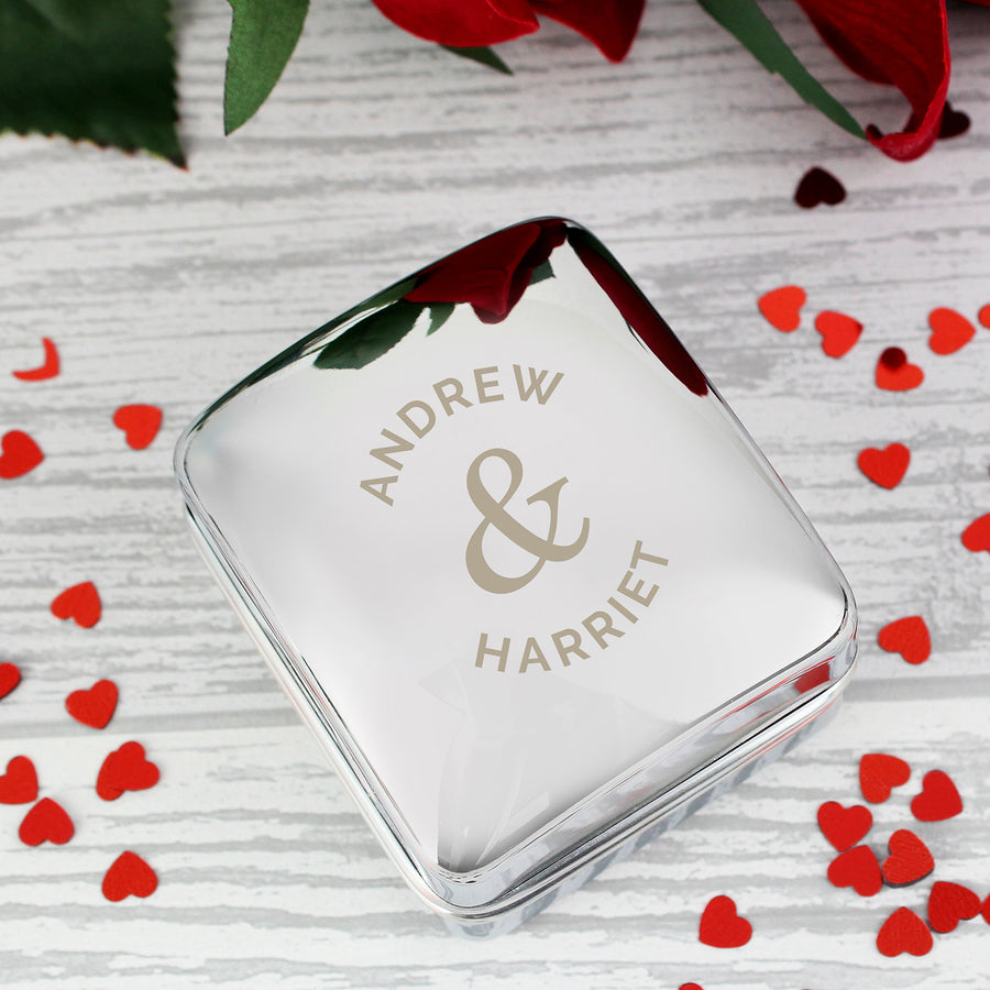 Personalised Couples Ring Box - Personalised Gift From Personally Presented