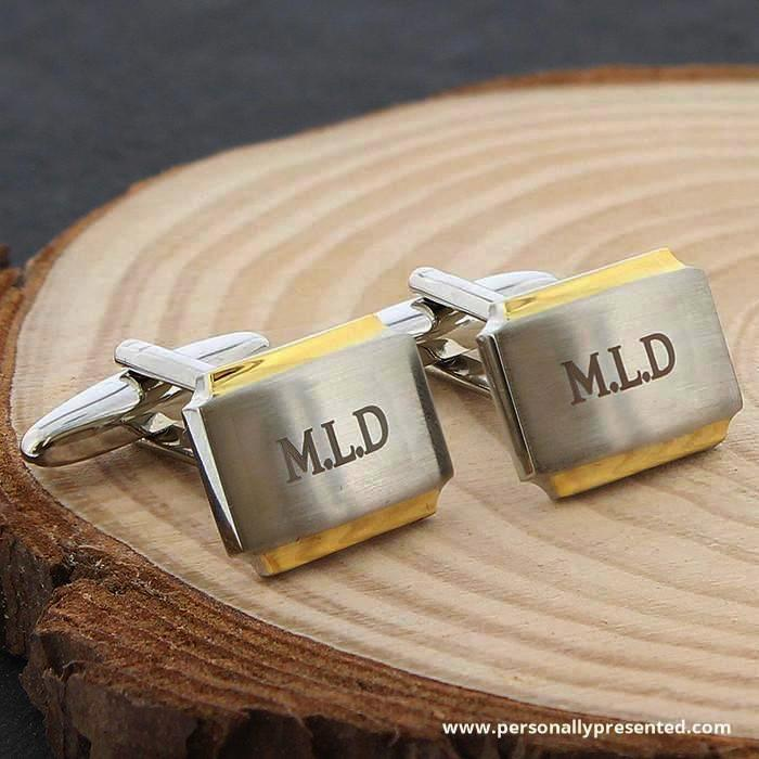 Personalised Gold Plated Cufflinks - Personalised Gift From Personally Presented