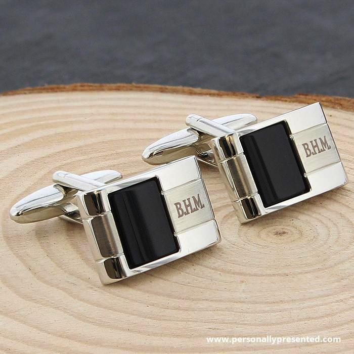 Personalised Onyx Cufflinks
