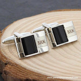 Personalised Onyx Cufflinks - Personalised Gift From Personally Presented