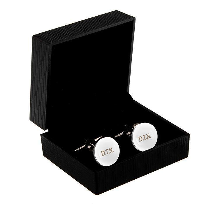 Personalised Round Cufflinks - Personalised Gift From Personally Presented