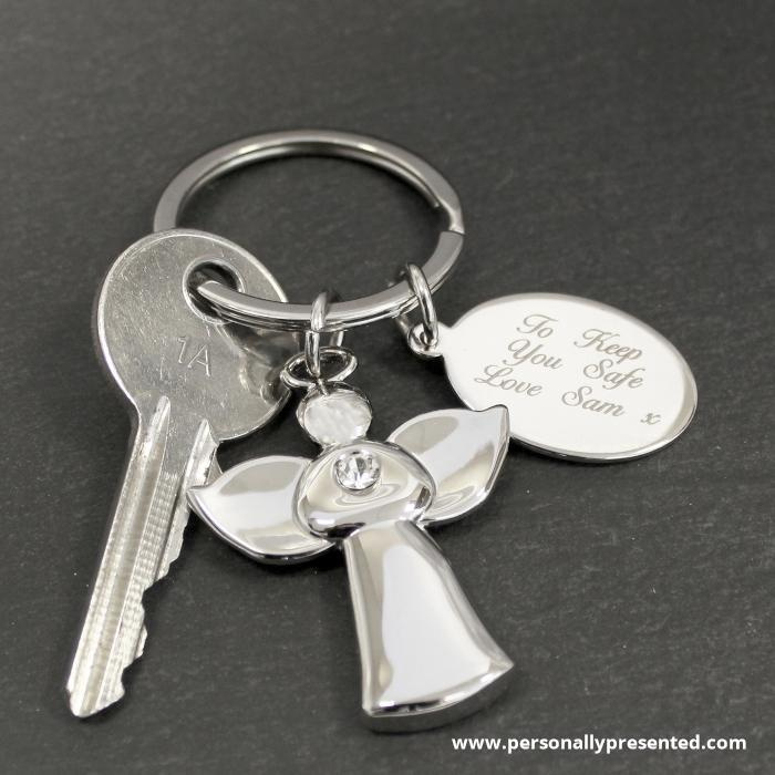 Personalised Angel Keyring - Personalised Gift From Personally Presented