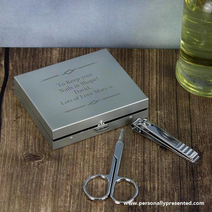 Personalised Any Message Manicure Set - Personalised Gift From Personally Presented