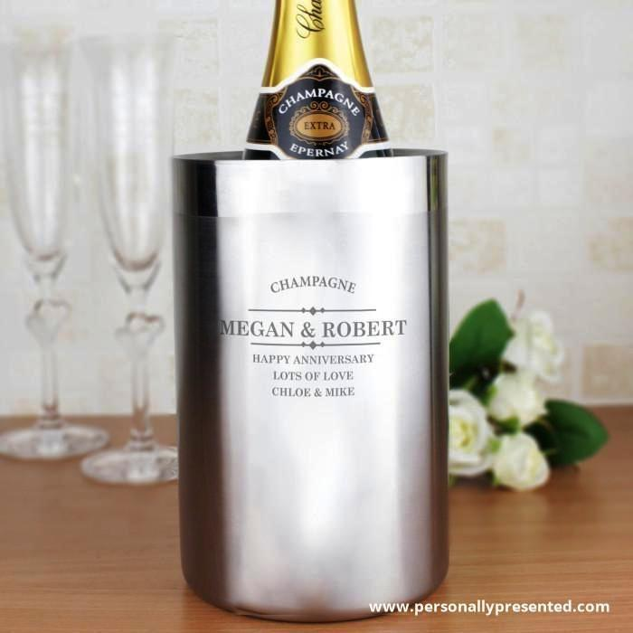 Personalised Diamond Wine Cooler - Personalised Gift From Personally Presented