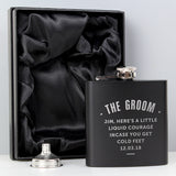 Personalised Any Message Black Hip Flask - Personalised Gift From Personally Presented