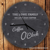 Personalised O'Clock Slate Clock - Personalised Gift From Personally Presented